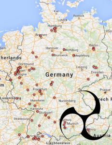 taiko-germany-map